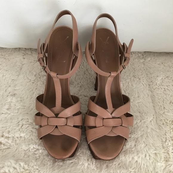 7caca232c90 Yves Saint Laurent Platform Sandal. M 5b5d1b15534ef9bb0330ca30